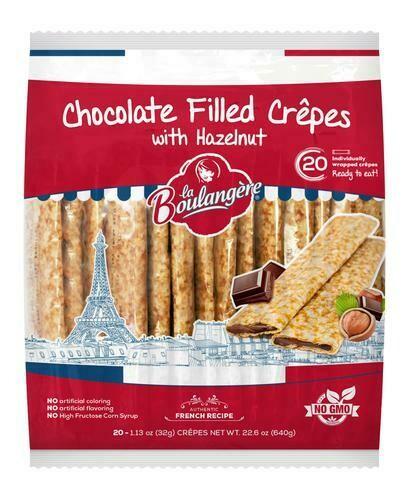 La Boulangere. Hazelnut Chocolate Filled French Crepes