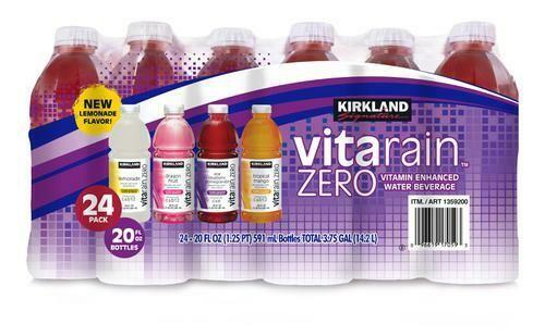 Kirkland Signature VitaRain Zero 24 pk/20 oz
