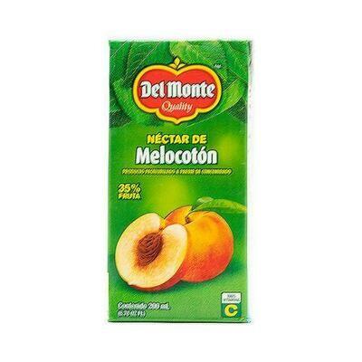 Del Monte Peach Nectar 27 Units/200 ml