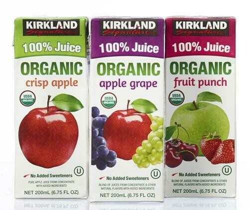 Kirkland Signature Organic 100% Juice Variety 40 Pack