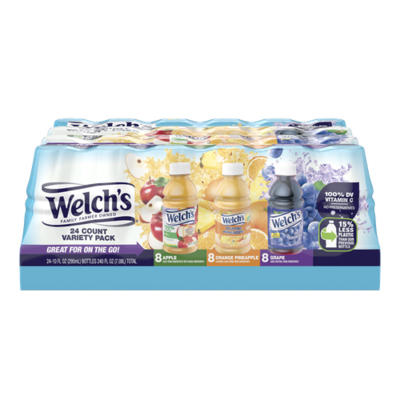 Welch's Assorted Juices 24 pk/10 oz