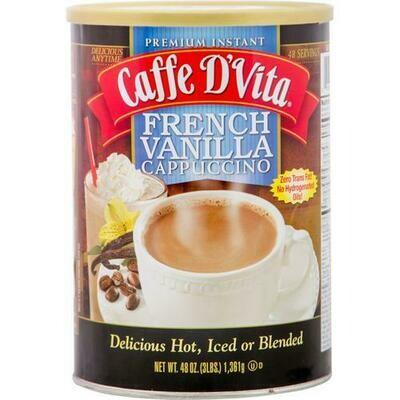 Caffe D'Vita French Vanilla Cappuccino 48 oz
