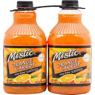 Mistic Orange Carrot Juice 2 pk-64 oz/ 1.89 lt