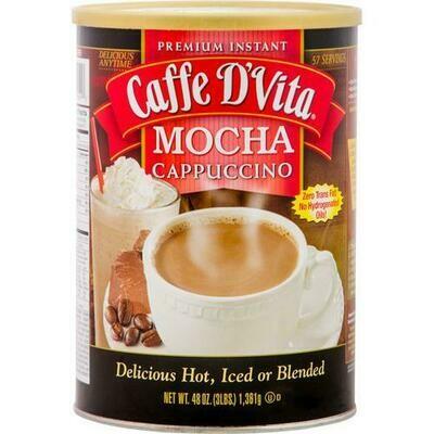Caffe D'Vita Mocha Cappuccino Mix 48 oz