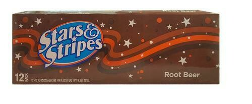 Stars & Stripes Root Beer 12 pk-12 oz/ 355ml