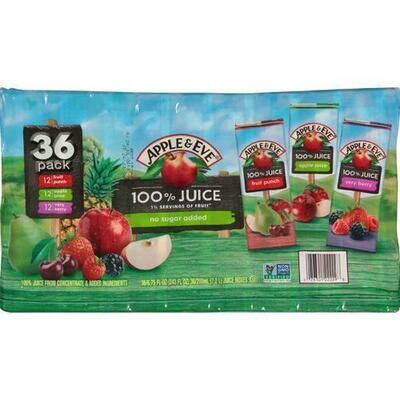 Apple & Eve 100% Juice Box Variety 36 pk/6.75 oz
