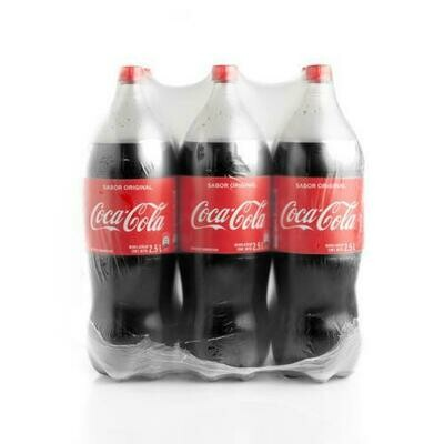 Coca Cola Regular  6 units/2.5 lt