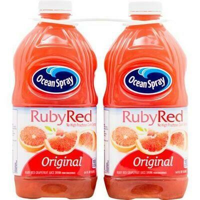 Ocean Spray Ruby Red Grapefruit 2 pk- 64 oz/ 1.89 lt