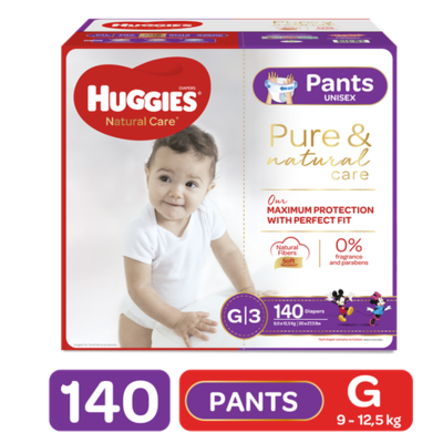 Huggies Diapers Pants Natural Care Size G/3 140 units