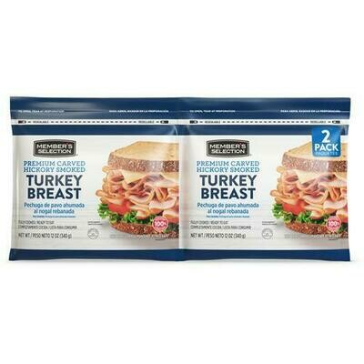 Member's Selection Premium Carved Hickory Smoked Turkey Breast 340 g / 12 oz 2 Pack
