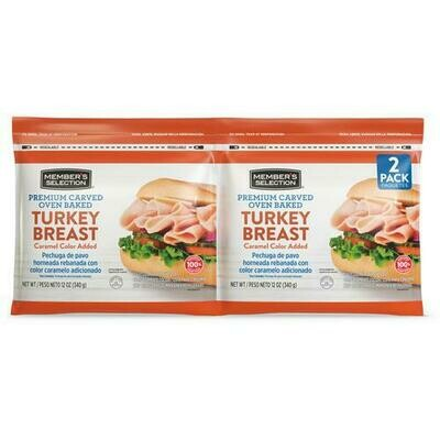 Member's Selection Premium Carved Oven Baked Turkey Breast 340 g / 12 oz 2 Pack