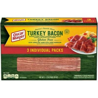 Oscar Mayer Turkey Bacon 3pk / 340 g / 12 oz
