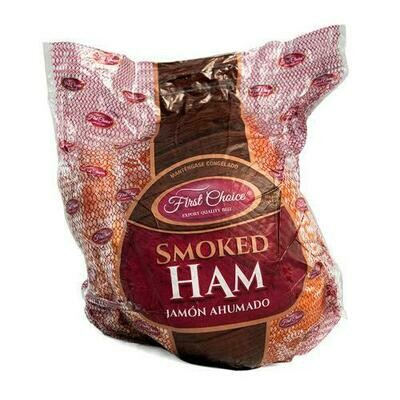 First Choice Frozen Boneless Smoked Leg Ham, 9.07 kg / 19.9 lb
