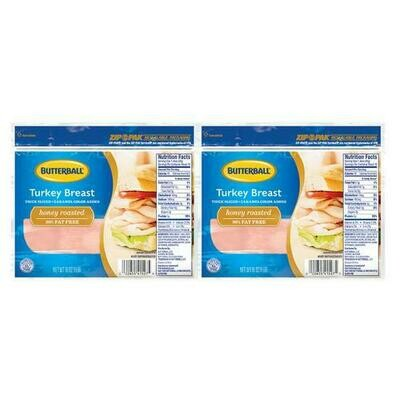 Butterball Turkey Honey Breast 2 pk/ 454 g / 1 lb