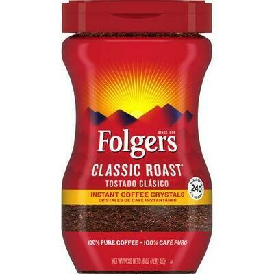 Folgers Instant Coffee 16 oz/ 453 g