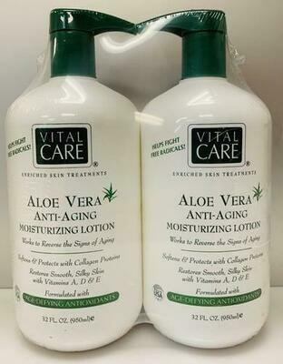 Vital Care Anti Aging Lotion 2 pk 32 oz/ 950 ml