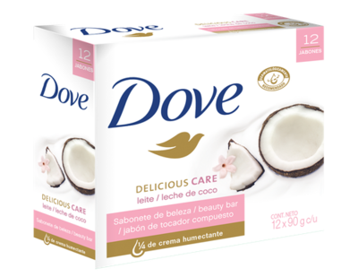 Dove Coconut Bar Soap 12 units / 90 g
