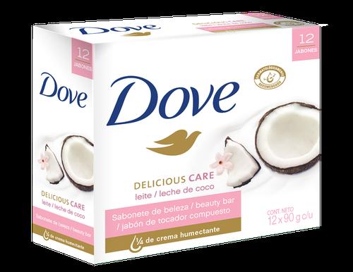 Dove Coconut Bar Soap 12 units / 90 g
