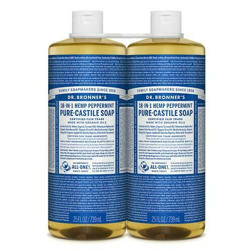 Dr. Bronner's Liquid Soap 2 units / 739 ml