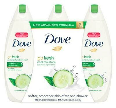 Dove Body Wash Cucumber & Green Tea 3 pk/24 oz