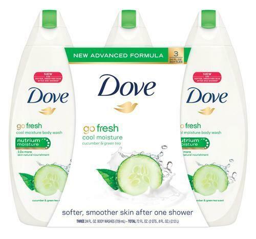 Dove Body Wash Cucumber & Green Tea 3 pk/24 oz