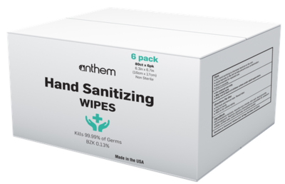 Anthem Hand Sanitizing Wipes 6 pk/80 ct