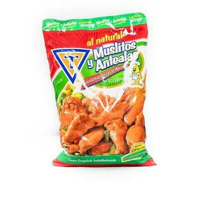 Toledano Frozen Chicken Thigh and Wing, Bag  2.27 Kg. / 5 Lb.