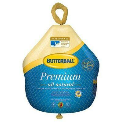 Butterball Whole Turkey, 8.1-9.0 kg / 18-20 lb