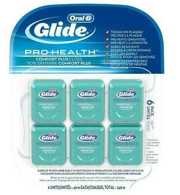 Oral B Glide Pro Health Comfort Plus Floss 6 pack