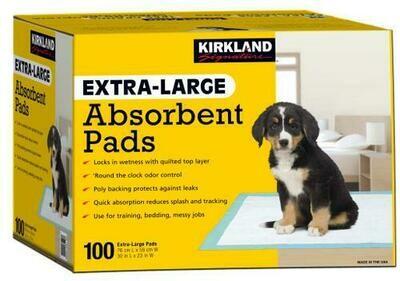 Kirkland Signature XL Absorbent Pads 100 Units