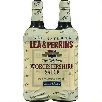Lea & Perrins Worcestershire Sauce 2 pk- 20 oz/ 592 ml