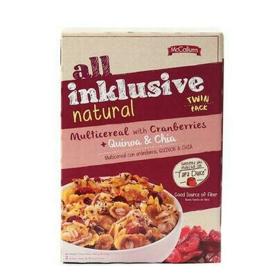 All Inklusive Natural Multicereal with Cranberries 2 units/500 g