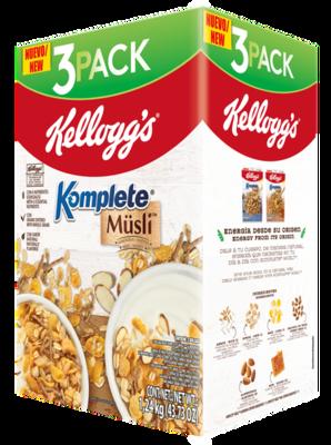 Kellogg's 3pk Muesli w/ Almonds