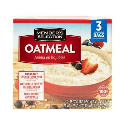 Member's Selection Oatmeal 1 kg / 2 lb 3 oz 3 Pack