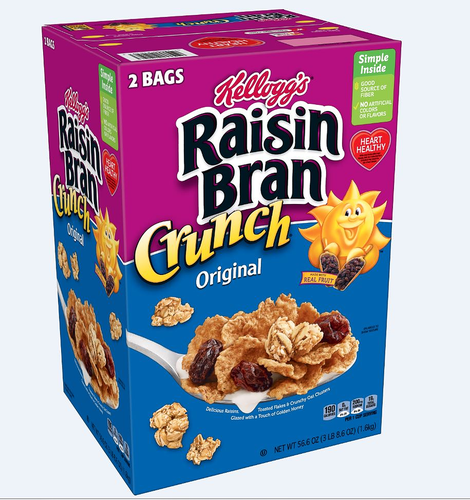 Kellogg's Raisin Bran Crunch 56.6 oz/ 1.6 kg