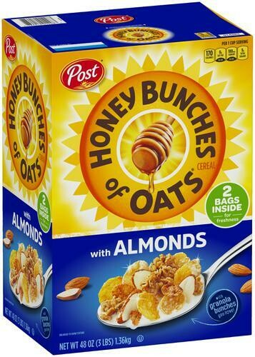 Honey Bunches of Oats Cereal with Almonds 48 oz/ 1.36 kg