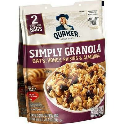 Quaker Oats & Honey Granola 2 Pack- 34.5 oz/ 978 g