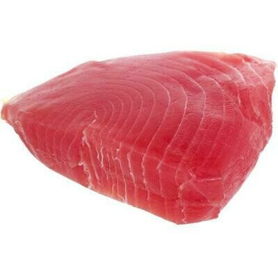 Frozen Skinless Ahi Tuna Steaks, Vacuum Packaged, Case