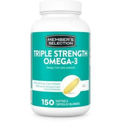 Member's Selection Triple Strength Omega-3 900 mg & Fish Oil 1425 mg - 150 Softgels