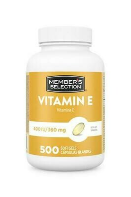 Member's Selection Vitamin E 400 IU/360 mg - 500 Softgels