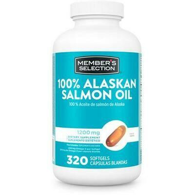 Member's Selection 100% Alaskan Salmon Oil 1200 mg 320 Softgels