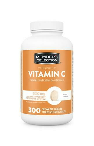 Member's Selection Chewable Vitamin C 500 mg 300 Tablets