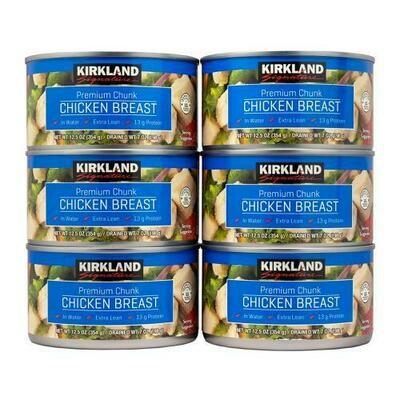 Kirkland Signature Canned Chicken Breast 6 pk/12.5 oz