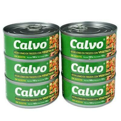 Calvo Chunk Tuna with Vegetables  6 units/160 g