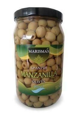 Marismas Manzanilla Pitted Green Olives 36 oz