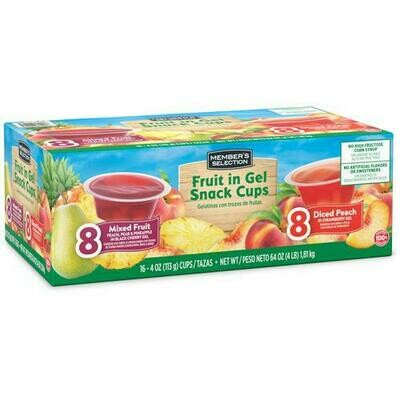 Member's Selection Mixed Fruit in Gel Snack Cups 16 pk/4 oz