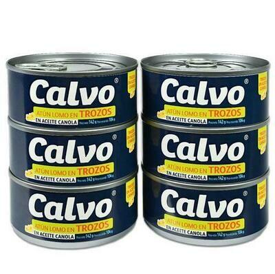 Calvo Chunk Tuna in Canola Oil 6 units / 142 g