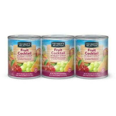 Member's Selection Fruit Cocktail in Heavy Syrup 3 pk/28.9 oz