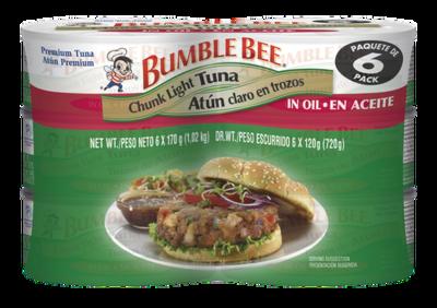 Bumble Bee Tuna in Oil 6 pk/6 oz
