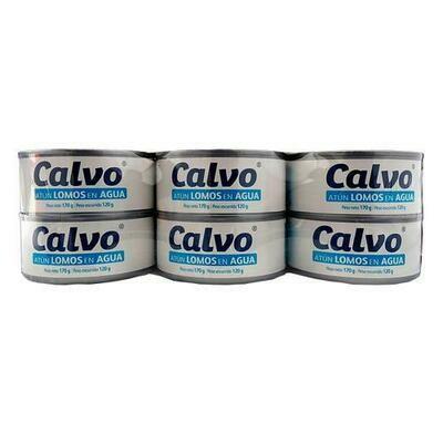 Calvo Solid Tuna in Water 6 units/ 170 g